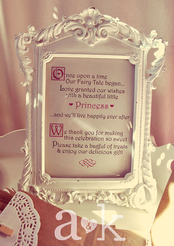Personalised Lolly Buffet framed message