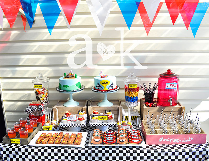 Alex Maxs Cars Birthday Dessert Table