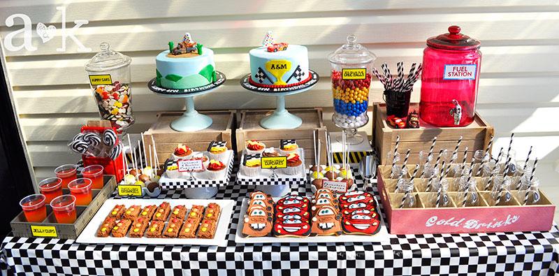 Alex Maxs Cars Birthday Dessert Table