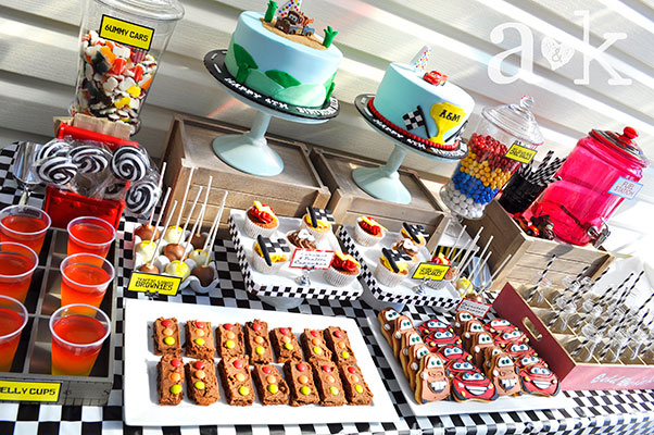 Alex & Max's Cars Birthday Dessert Table