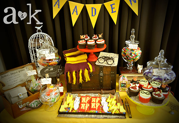 Aadens Harry Potter Themed 1st Birthday Party AampK Lolly