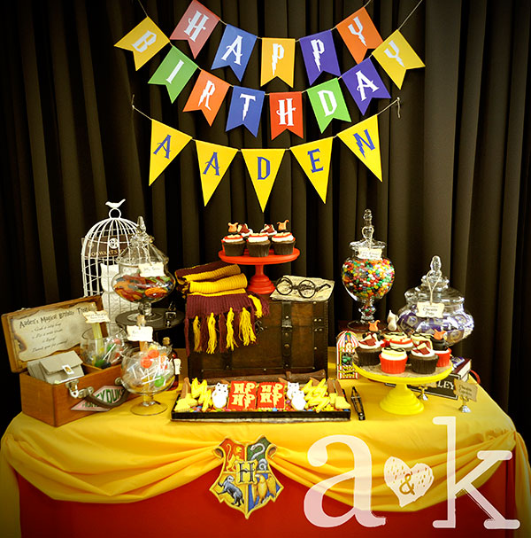 Aaden's Harry Potter Themed 1st Birthday Dessert Buffet by A&K.