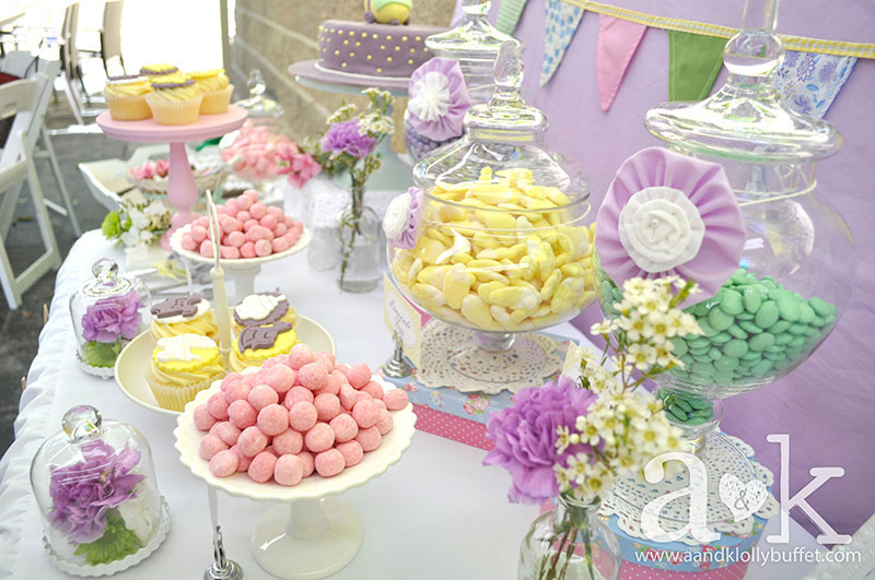 Mansis Vintage Pastel Baby Shower Ak Lolly Buffet