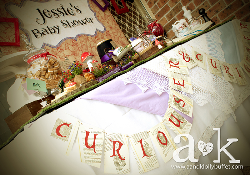 Jessie's Mad Hatter Tea Party Baby Shower Lolly Buffet by A&K