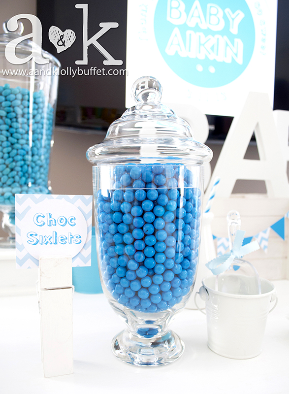 Nadine's Blue Baby Shower Lolly Buffet by A&K.