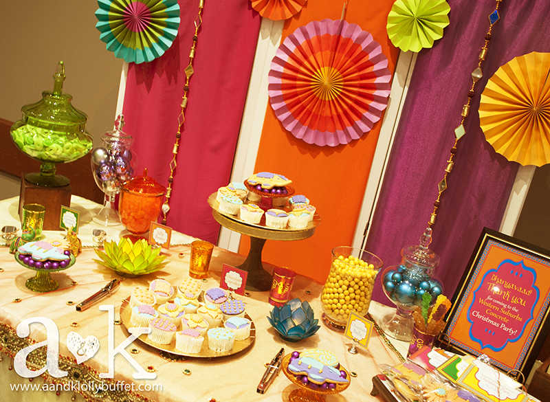 WSC's Bollywood Inspired Christmas Party Dessert Buffet by A&K.