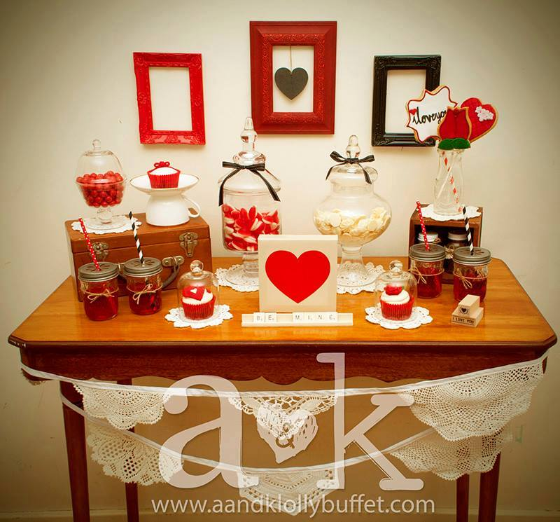 Quirky Valentine Mini Dessert Buffet by A&K