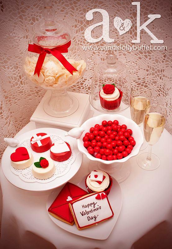 Romantic Valentine Mini Dessert Buffet by A&K