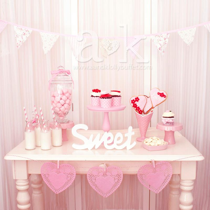 Sweet Valentine Mini Dessert Buffet by A&K