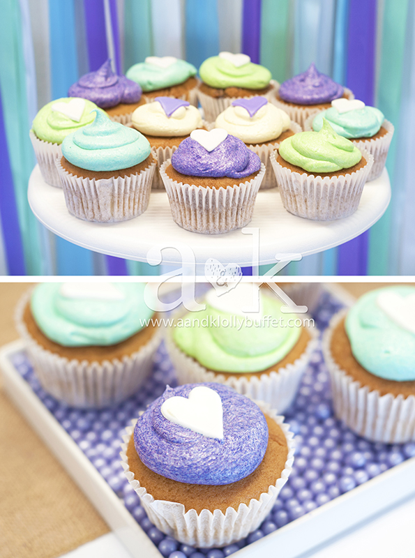 Cupcakes by Sweet Treats by Martie. Styling and Photography by A&K.
