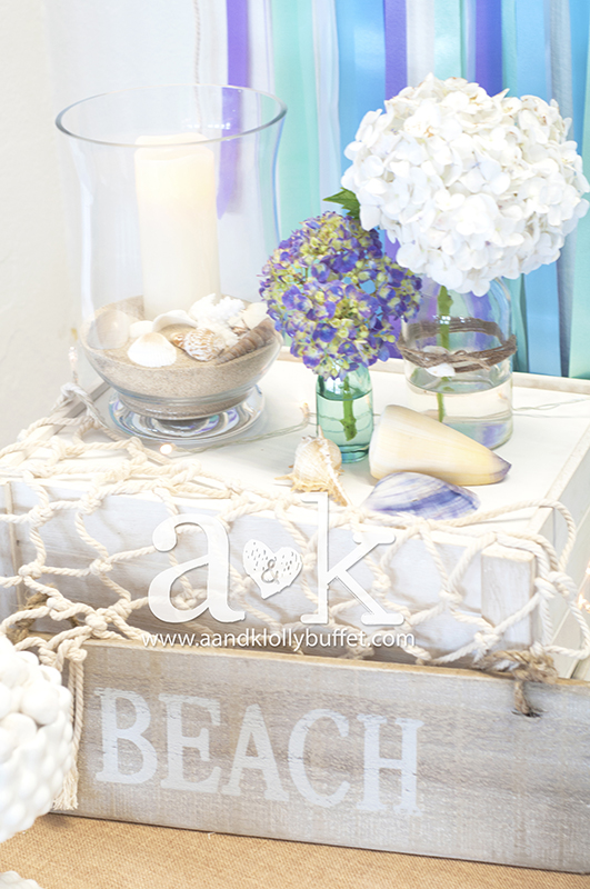 Beach inspired decors. Styling & Photography by A&K.